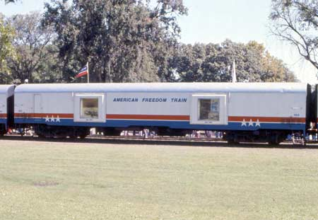 American Freedom Train Car 103 ex New York Central baggage car 9178
