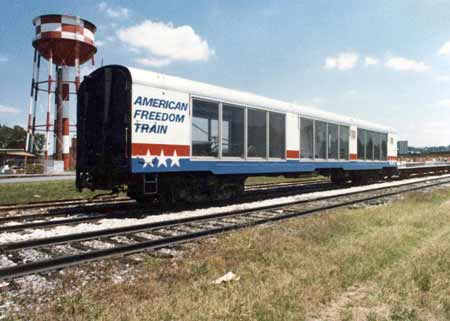 American Freedom Train Car 41 ex New York Central baggage car