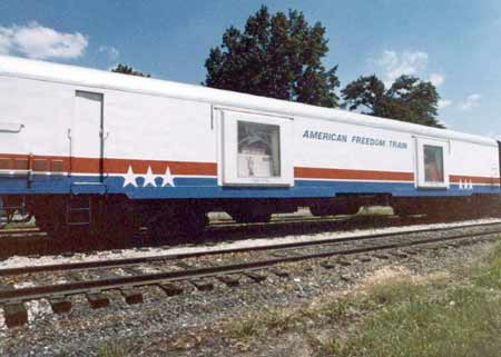 American Freedom Train Car 110 ex New York Central baggage car 9165