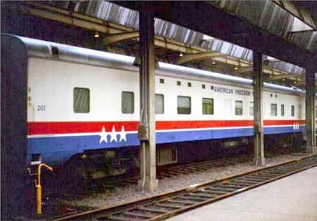 American Freedom Train Car 201 ex Southern Pacific Sleeper 9111, ex 212 Golden River