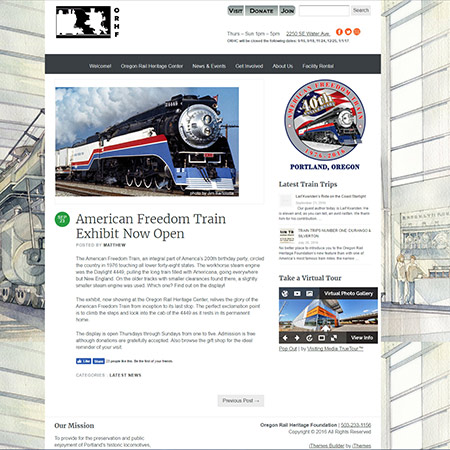 American Freedom Train Exhibit in Portland