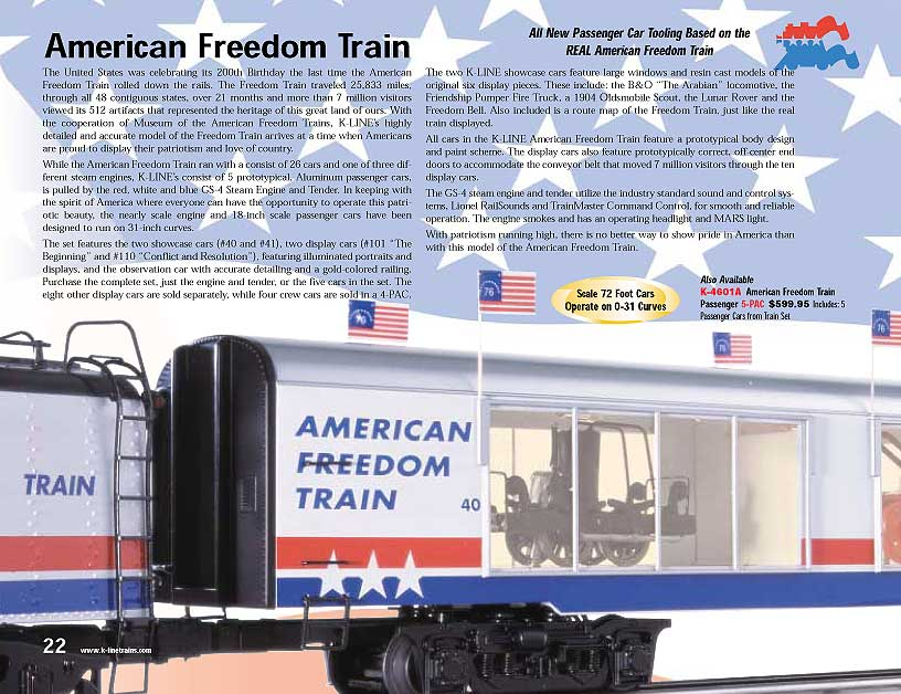 american freedom train set images. Black Bedroom Furniture Sets. Home Design Ideas