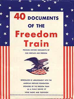 40 Documents of the Freedom Train
