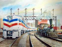 Freedom Train art by Howard Fogg