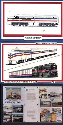 Freedom Train Postcards