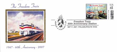 Freedom Train Postal Cancel